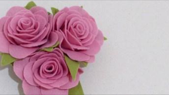 Aprenda A Fazer Rosas De Feltro, Um Trabalho Maravilhoso Em Artesanato!