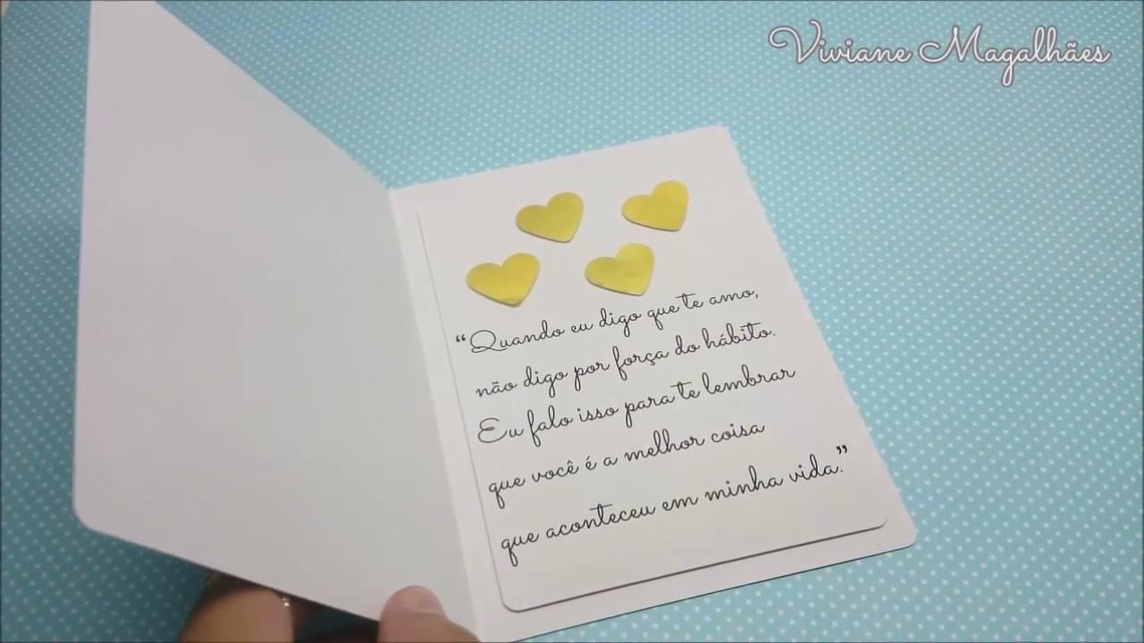 Aprenda a fazer um lindo cartão para o dia dos namorados