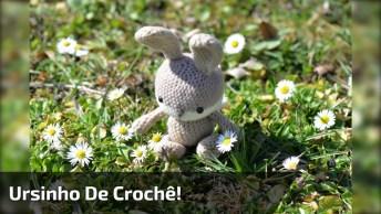 Aprenda A Fazer Um Ursinho De Crochê, Ele Fica Muito Fofo!