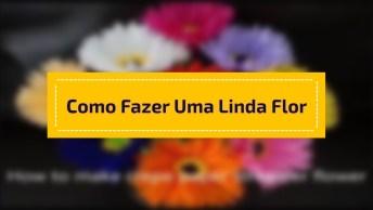 Aprenda A Fazer Uma Linda Flor Com Papel Crepom, Muito Fácil!