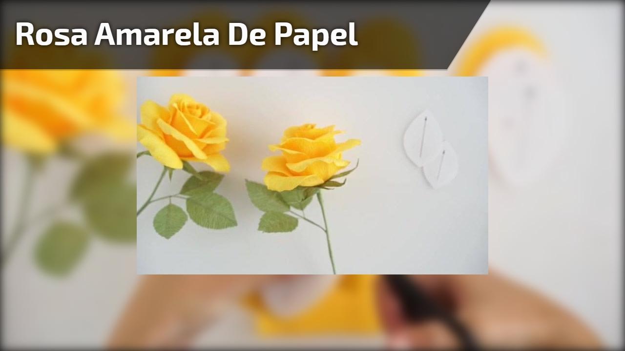 Rosa amarela de papel