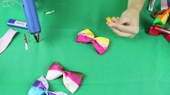 Aprenda A Fazer Várias Opções De Laços Coloridos, Ficam Lindos!