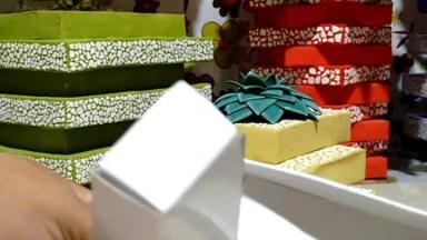 Aprenda A Fazer Vasos E Cachepôs Com Caixa De Papelão!
