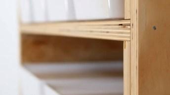 Aprenda A Fazer Você Mesma Uma Prateleira De Madeira, Organize Sua Casa!