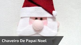 Aprenda A Montar Um Chaveiro De Papai Noel, Ótima Opção Para O Natal!