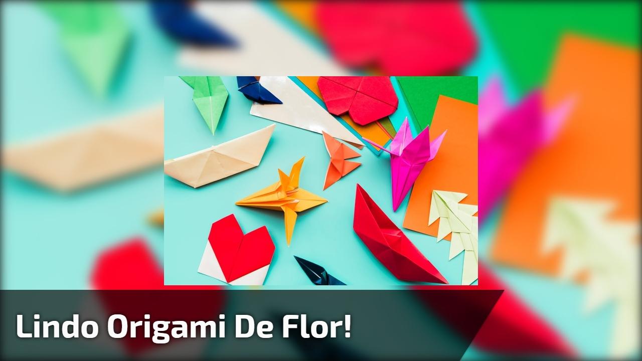 Lindo origami de flor!