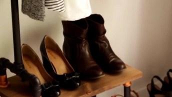 Armário Para Sapatos E Roupas Feito Manualmente, Fica Bem Legal!