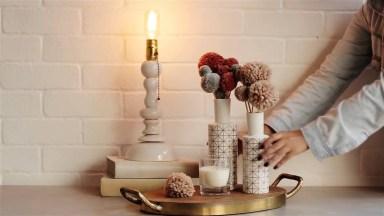 Arranjo De Flor Pompom, Para Enfeitar Vários Ambientes Da Sua Casa!