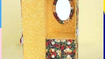 Artesanato Com Caixa De Leite Vazia, Veja Que Lindo Porta Joias!