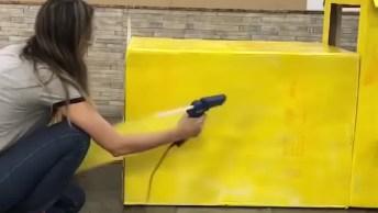 Artesanato Com Caixas De Papelão Vazias, Bora Fazer Um Trator Super Divertido!