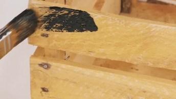 Artesanato Com Caixotes De Madeira, Transforme-Os Em Uma Linda Estante!