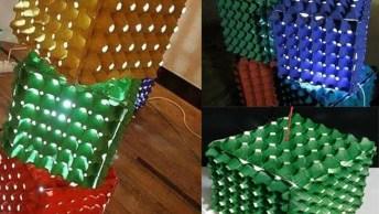 Artesanato Com Cartelas De Ovos, Você Vai Obter Uma Caixa De Luz!