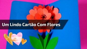 Artesanato Com Color Set, Aprenda A Fazer Um Lindo Cartão Com Flores 3D!