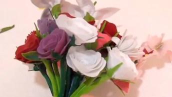 Artesanato Com Feltro, Aprenda A Fazer Flores E Montar Um Lindo Arranjo!