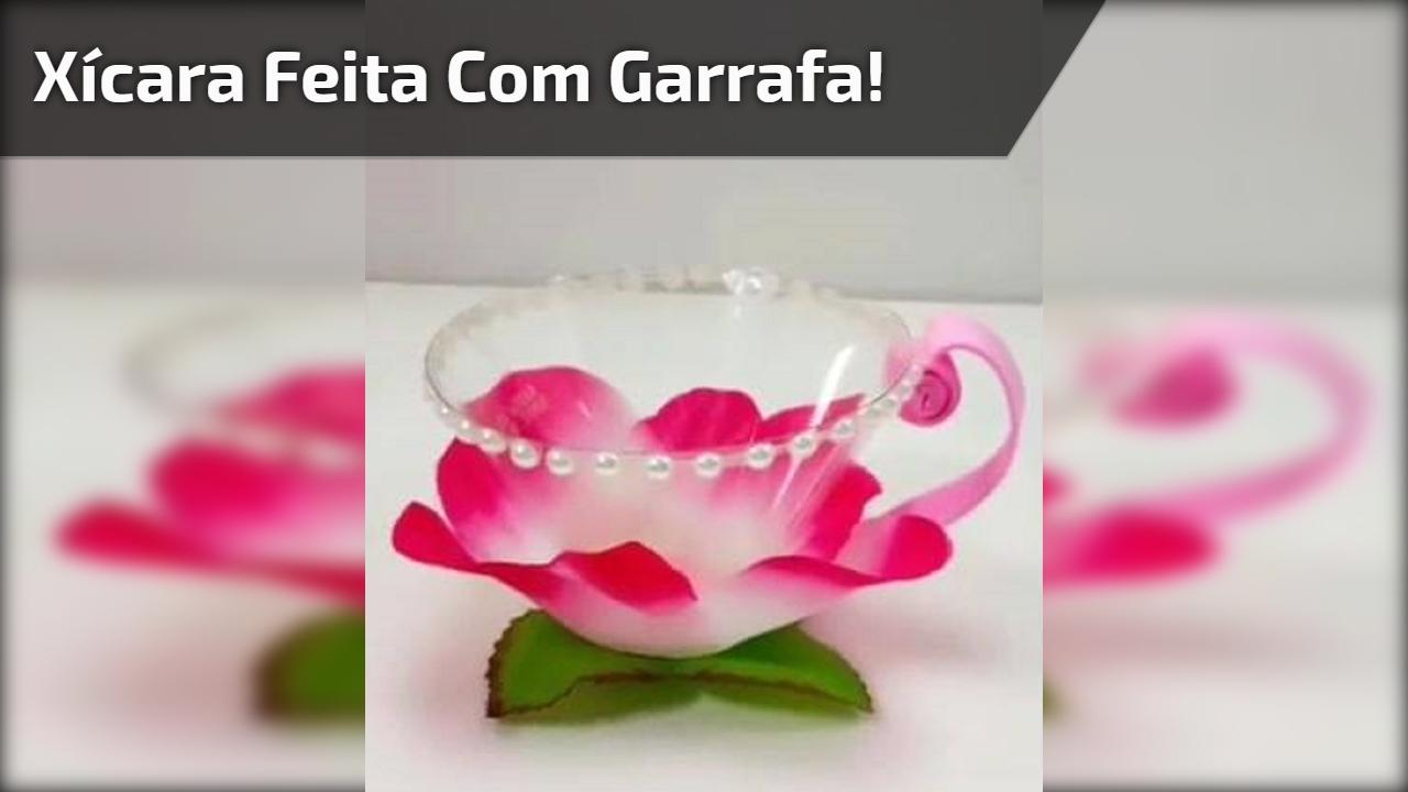 Artesanato com garrafa pet, olha só que mimo esta xícara de flor!!!