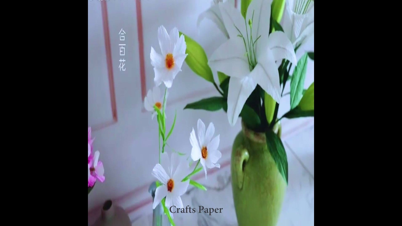Artesanato com papel crepom, aprenda fazer uma linda flor
