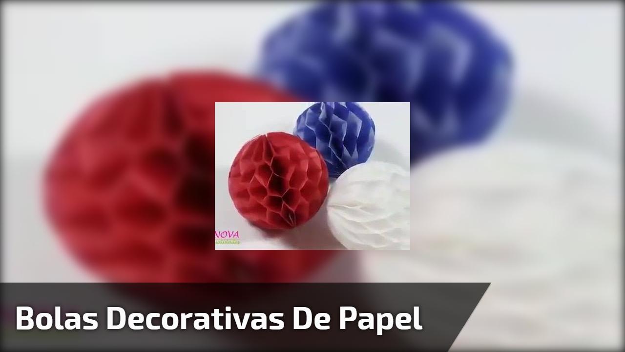 Bolas decorativas de papel