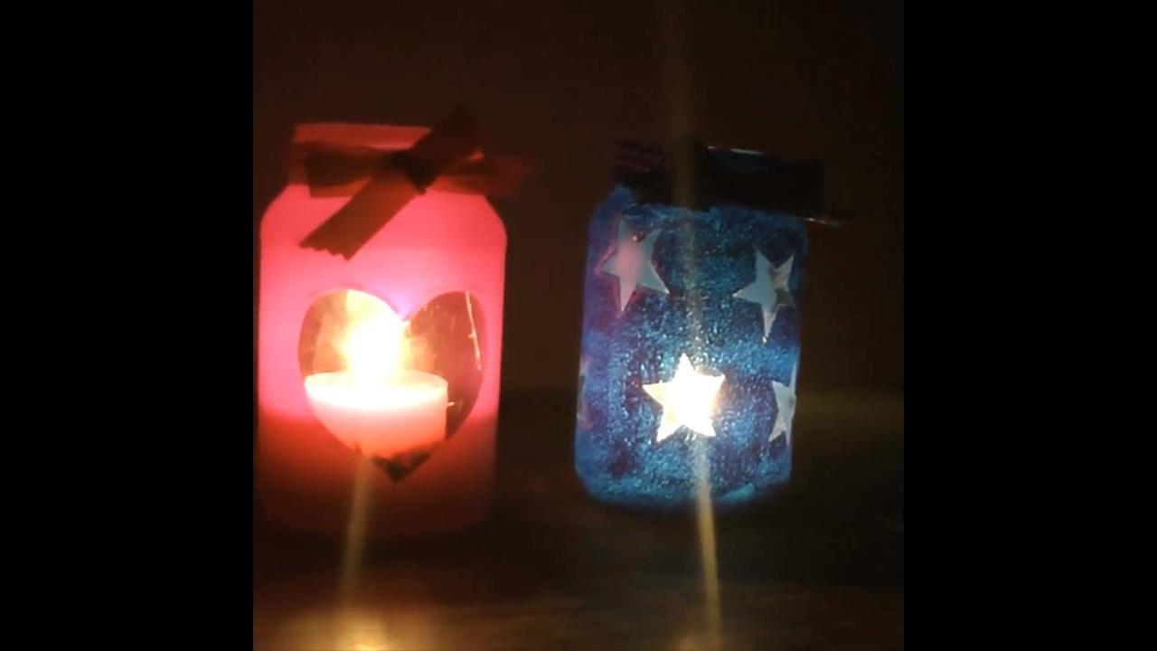 Artesanato com vidro vazio, vale a pena conferir como fazer estes porta velas!!!