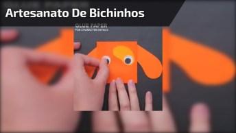 Artesanato De Bichinhos De Papel Para Divertir Com As Crianças!