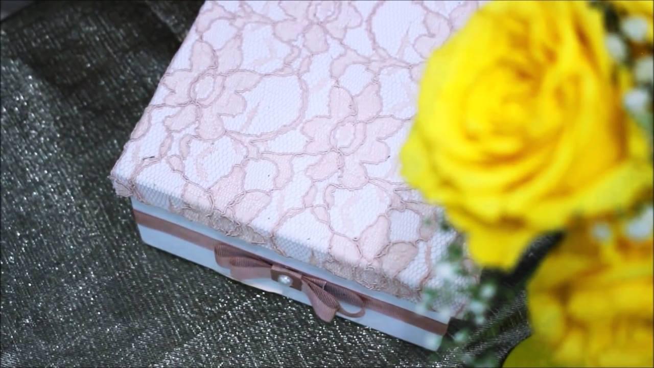 Artesanato de caixa em MDF linda