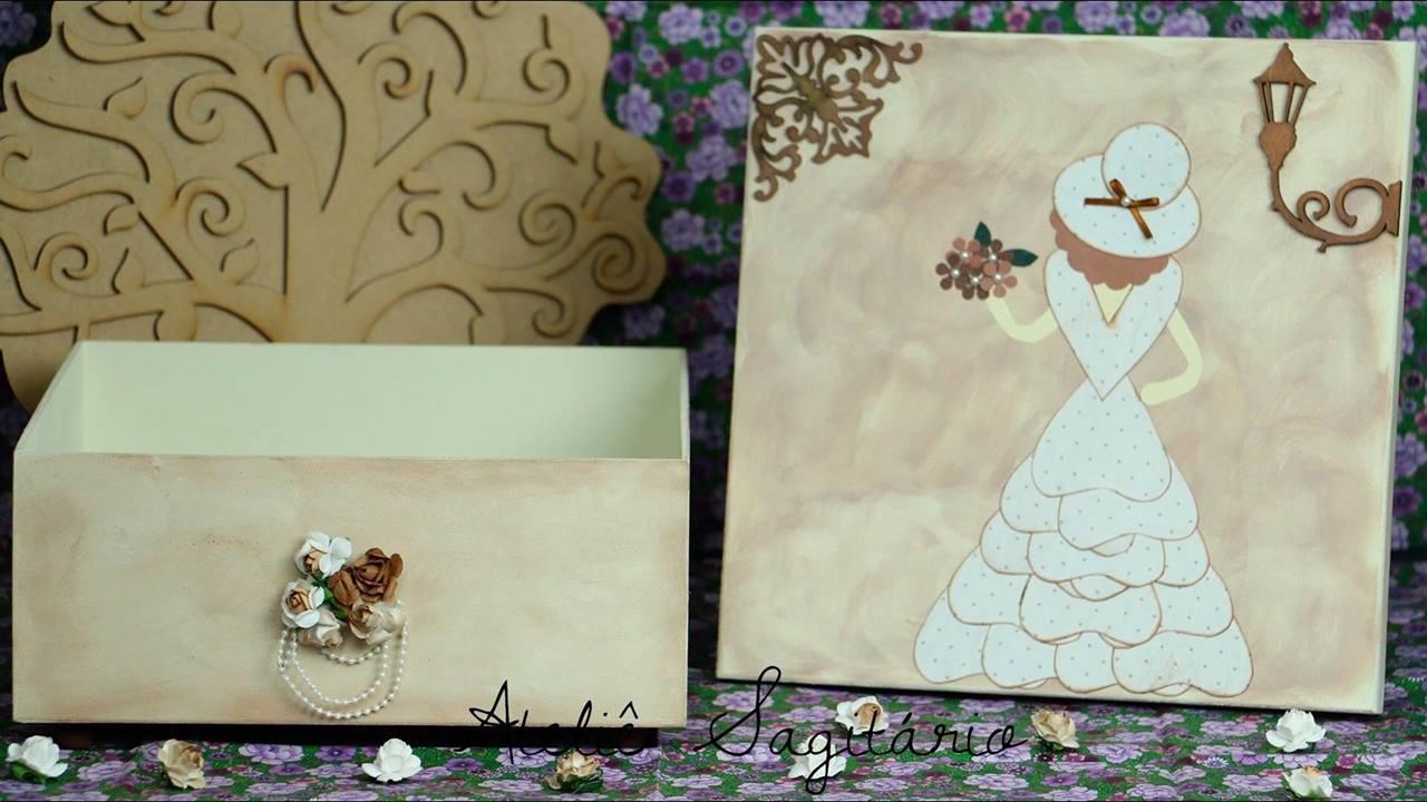 Artesanato de caixas decoradas com papel