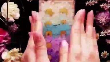 Artesanato De Colagem Para Capinha De Celular Com Flores E Glitter!