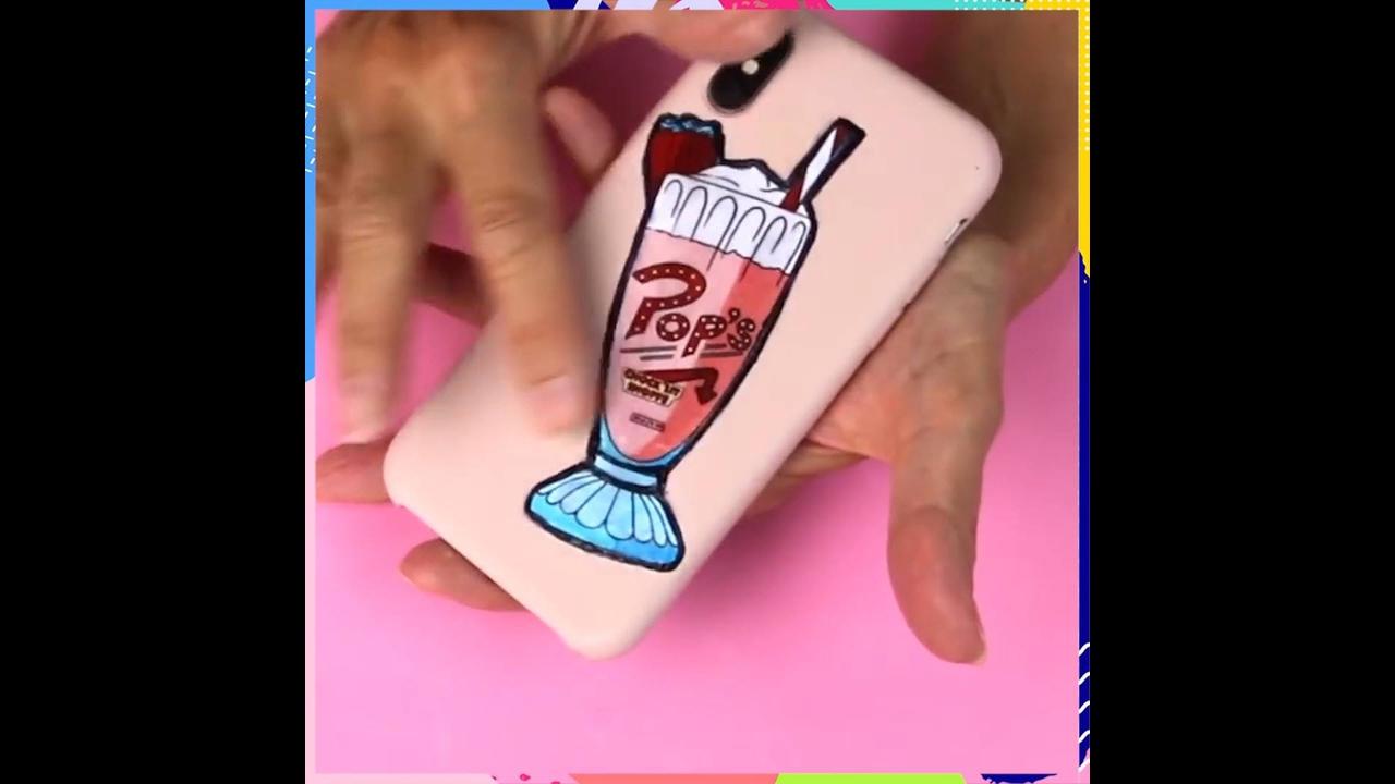 Artesanato de decoração de capinha de celular, e porta moedas com chaveiro!!!
