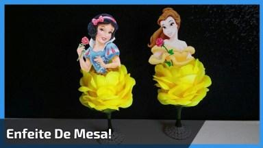 Artesanato De Enfeite De Mesa Feito Com Taça E Flor Artificial!