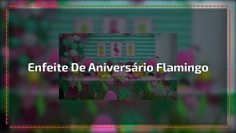 Artesanato De Enfeites De Festa De Aniversário Com Tema Flamingos!
