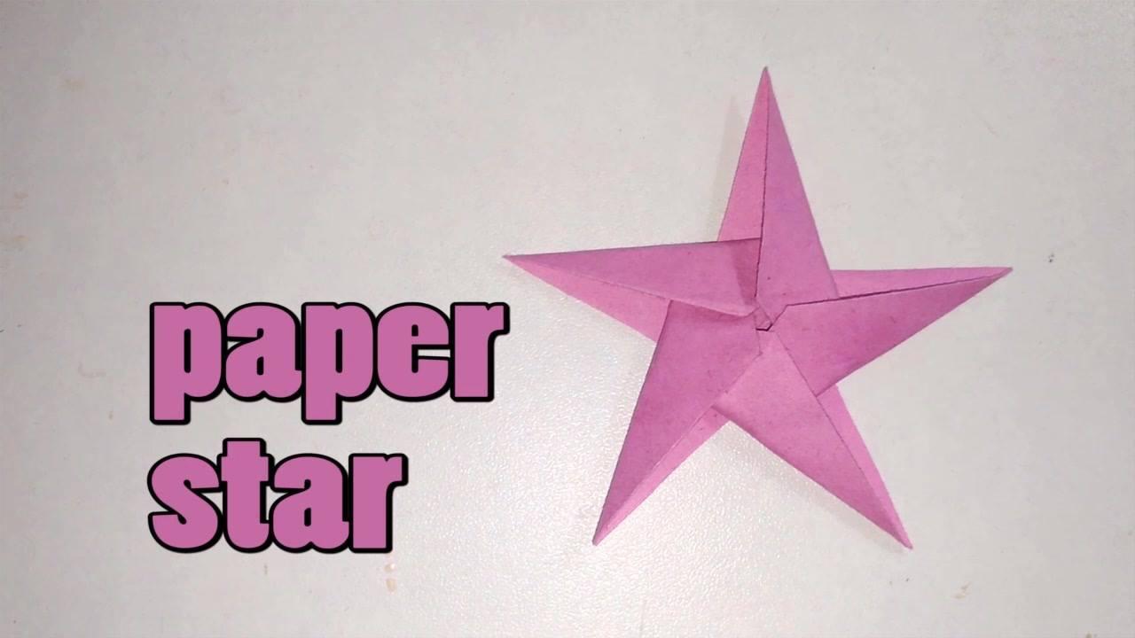 Artesanato de estrela de papel