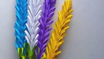 Artesanato De Flor De Lavanda Coloridas, Veja Como São Lindinhas!