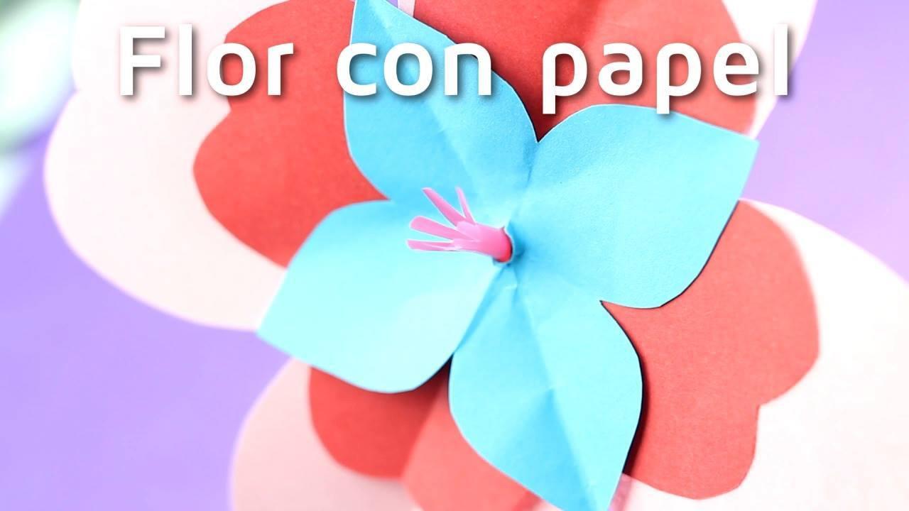 Artesanato de flor de papel super fácil de fazer