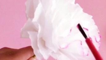 Artesanato De Flores Feitas Com Guardanapos, Veja Como Ficam Delicadas E Lindas!