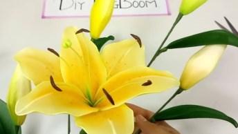 Artesanato De Flores Feitas Com Tule E Arame, Olha Só Que Coisa Mais Linda!