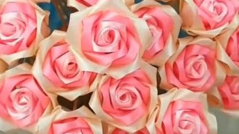 Artesanato De Flores Feitas De Fita De Cetim, Elas São Perfeitas Para Decoração!