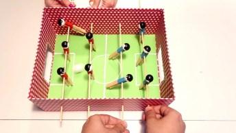 Artesanato De Mesa De Pebolim Para As Crianças Se Divertirem!