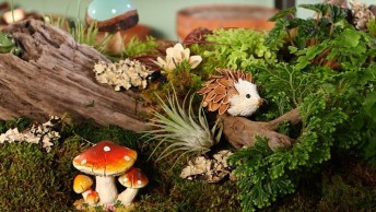 Artesanato De Mini Jardim Magico, Lindo Para Decorar Sua Casa!