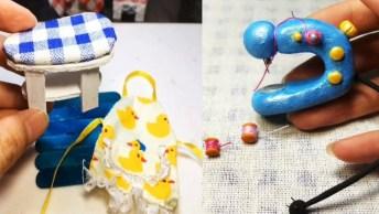 Artesanato De Miniaturas De Quadros Com Borboletas Feitos De Biscuit!