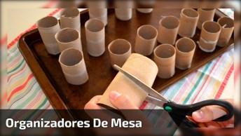 Artesanato De Organizador De Mesa, Veja Como São Lindinhos E Fáceis De Fazer!