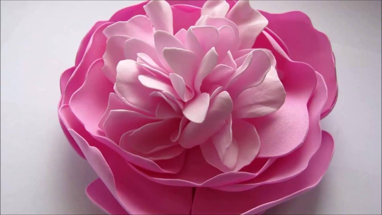 Artesanato de peônia de EVA, olha só que coisa mais linda para decorar!!!