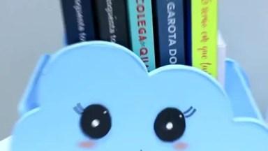 Artesanato De Porta Livros Com Formate De Nuvem Fofinha, Você Vai Se Apaixonar!