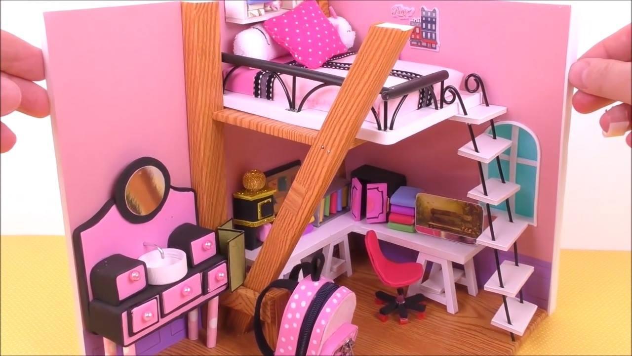 Artesanato de quarto em miniatura