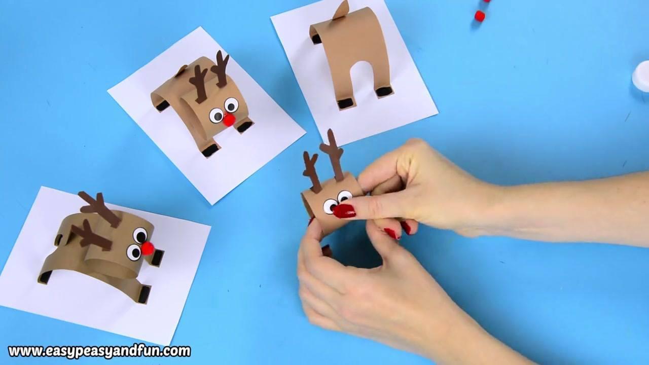 Artesanato de rena de papel cartão super bonitinha e fácil de fazer