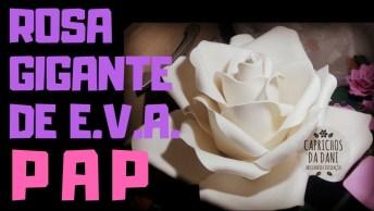 Artesanato De Rosa De Eva, Olha Só Como É Fácil De Como Fica Linda!
