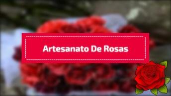 Artesanato De Rosas Feitas Com Papel, Veja Que Lindo Este Arranjo!