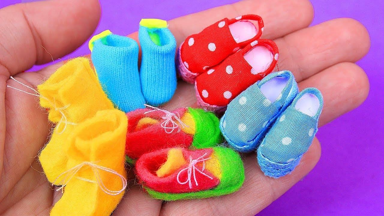 Artesanato de sapatinhos para bonequinhas
