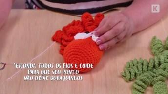 Artesanato Lindo Polvo De Crochê Para Bebês, Veja Que Fofinho!