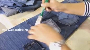 Artesanato Para Fazer Com Calça Jeans Velhas, Útil E Criativo!