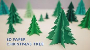 Árvore De Natal De Papel, Para Deixar O Seu Natal Ainda Mais Lindo!
