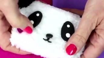 Bolsinha Para Moedas Com Carinha De Panda, Uma Fofura Para Aprender!
